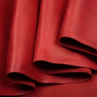 Кожа КРС галантерейная, крейзи хорс, красный, 1 сорт, 1,4-1,6мм